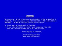 Синий экран смерти Виндовс